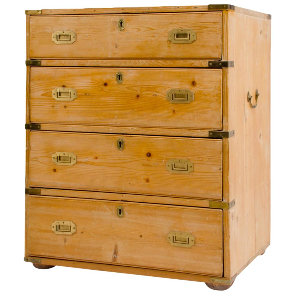 19th Century Campaign Style Chest of Drawers