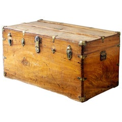 19th Century Camphor Wood Travelling Trunk