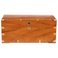 19th Century Camphorwood Military Campaign Trunk, circa 1850