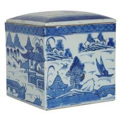 19th Century Canton, Unusually Large Lidded Box