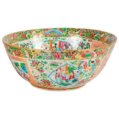 19th Century Cantonese / Rose Medallion Bowl