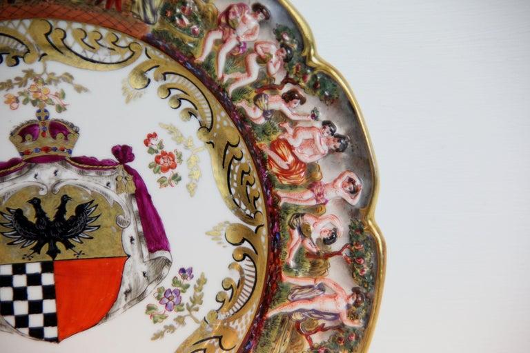 Italian 19th Century Capodimonte Plate For Sale