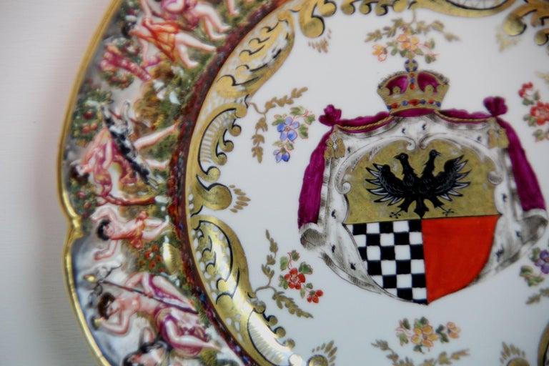 Gilt 19th Century Capodimonte Plate For Sale