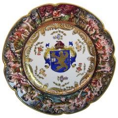 19th Century Capodimonte Plate