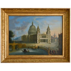 19th Century Capriccio Jeremias August Urlaub Clock Picture Germany