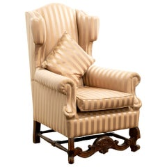 19th Century Carolean Style Wing Armchair