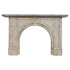 19th Century Carrara Marble Fireplace