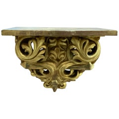 19th Century Carved and Gilded Italian Shelf