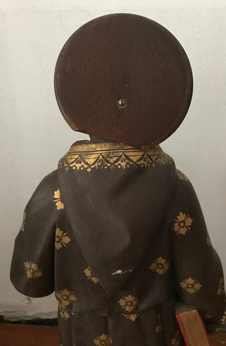 19th Century Carved and Painted Belgian Wood Statue of Saint Peter For Sale 2