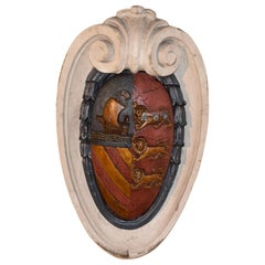 19th Century Carved Armorial Plaque