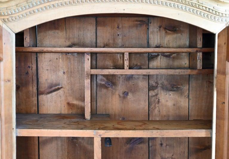 19th Century Carved Cabinet Bavaria Landsberg Lech, Wedding Cabinet Folkart For Sale 1