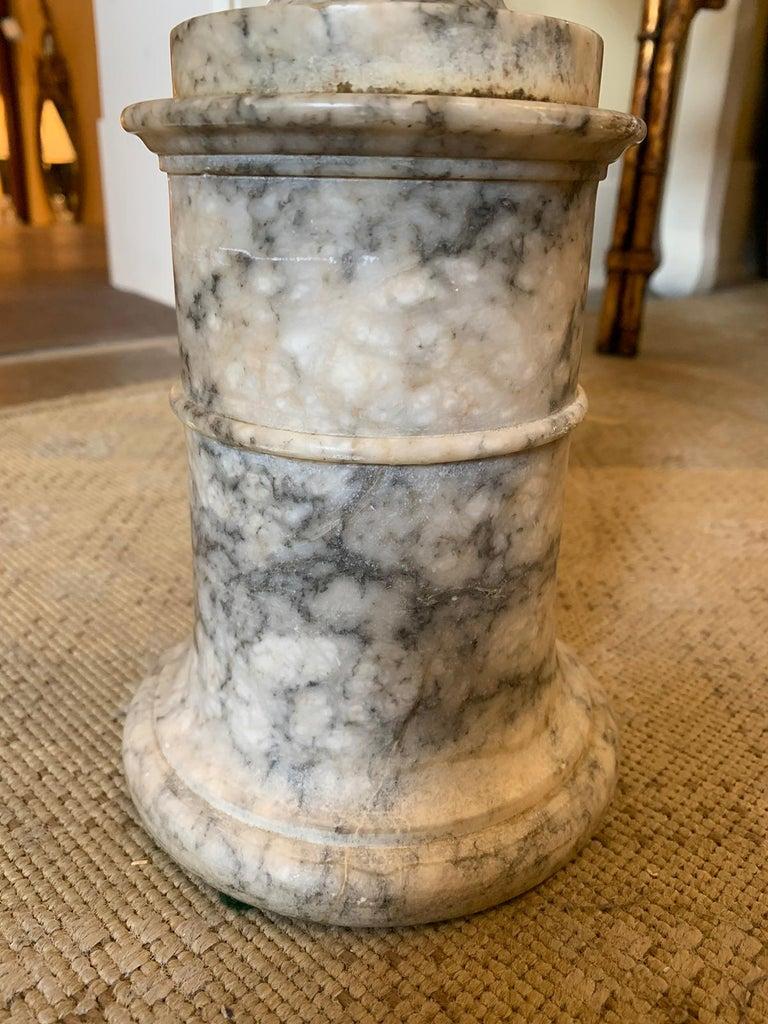 19th Century Carved Carrara Marble Urn 6