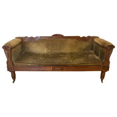 19th Century Carved English Regency Sofa