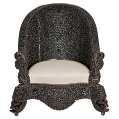 19th Century Carved Filigreed Burmese Chair