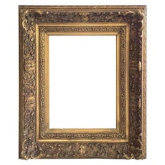 19th Century Carved Frame with Gilding and Water Gilding