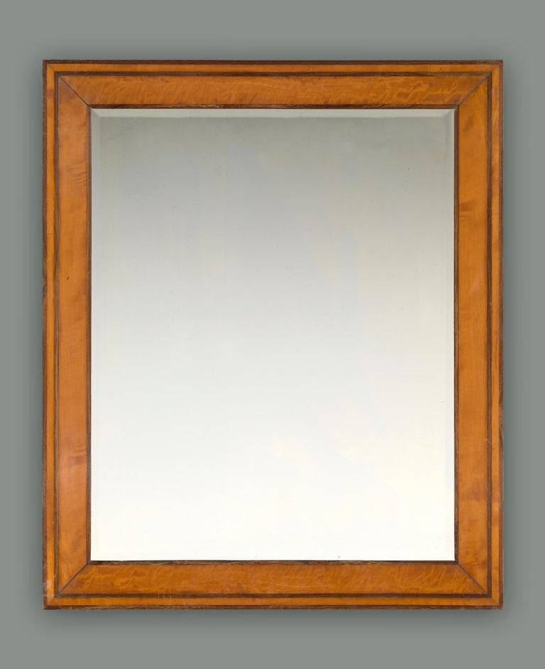 Veneer 19th Century French Biedermeier Frame, with Choice of Mirror For Sale