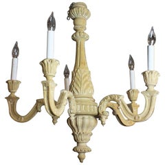 19th Century Carved French Chandelier