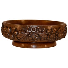 19th Century Carved Fruit Bowl