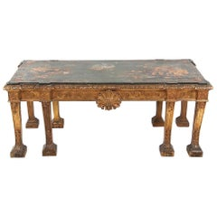 19th Century Carved Gilt and Chinoiserie Centre Table