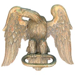 19th Century Carved Giltwood Eagle Baldachin