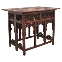 19th Century Carved Indian Occasional Table