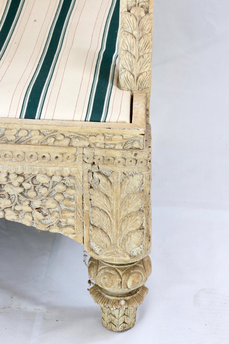 Carved Indian Settee For Sale 6