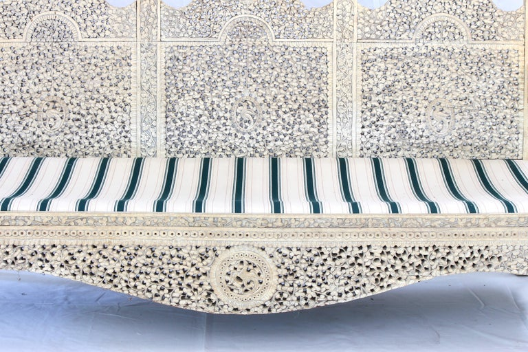 Carved Indian Settee For Sale 2