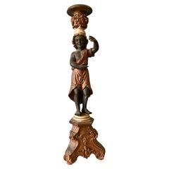 19TH Century Carved Italian Figural Pedestal