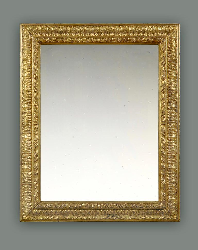 19th Century Carved Italian Later Baroque Frame, With