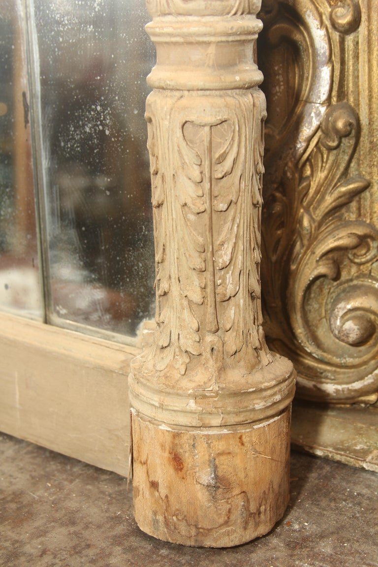19th Century Carved Italian Mirror with Lions For Sale 3