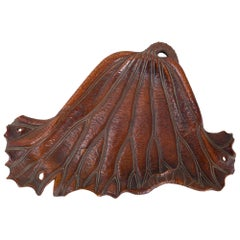 19th Century Carved Lotus Leaf Tray