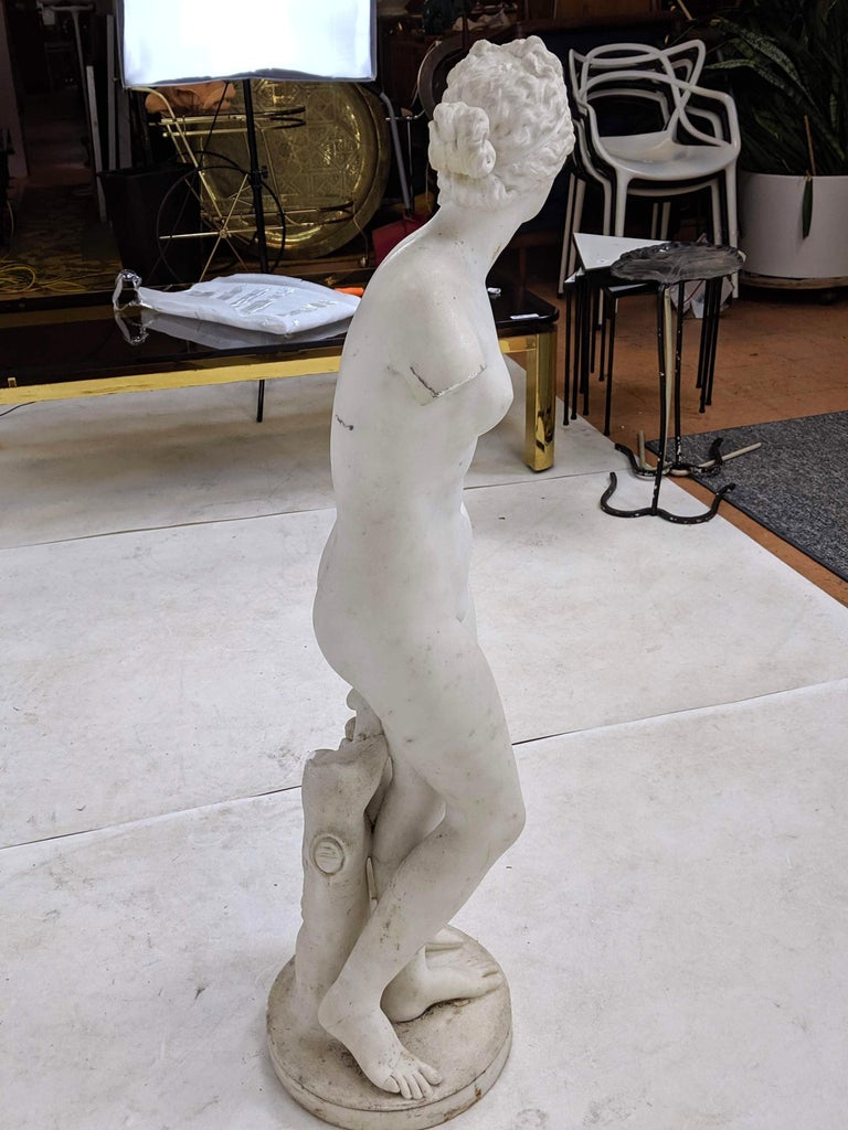 19th Century Carved Marble Statue For Sale 5