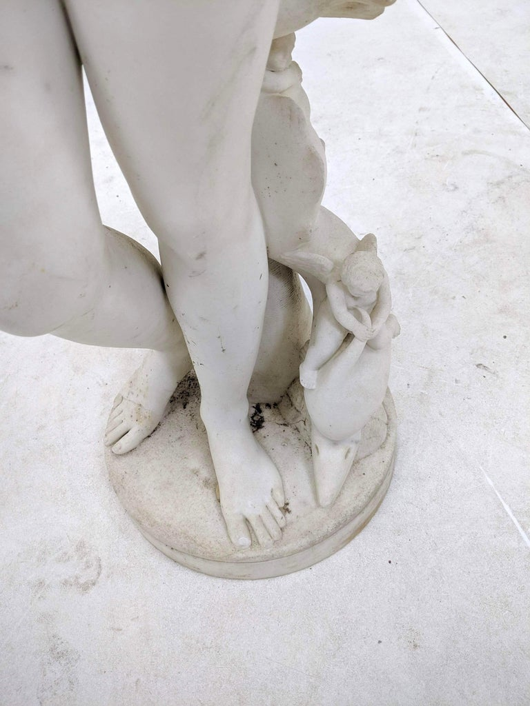 19th Century Carved Marble Statue For Sale 6