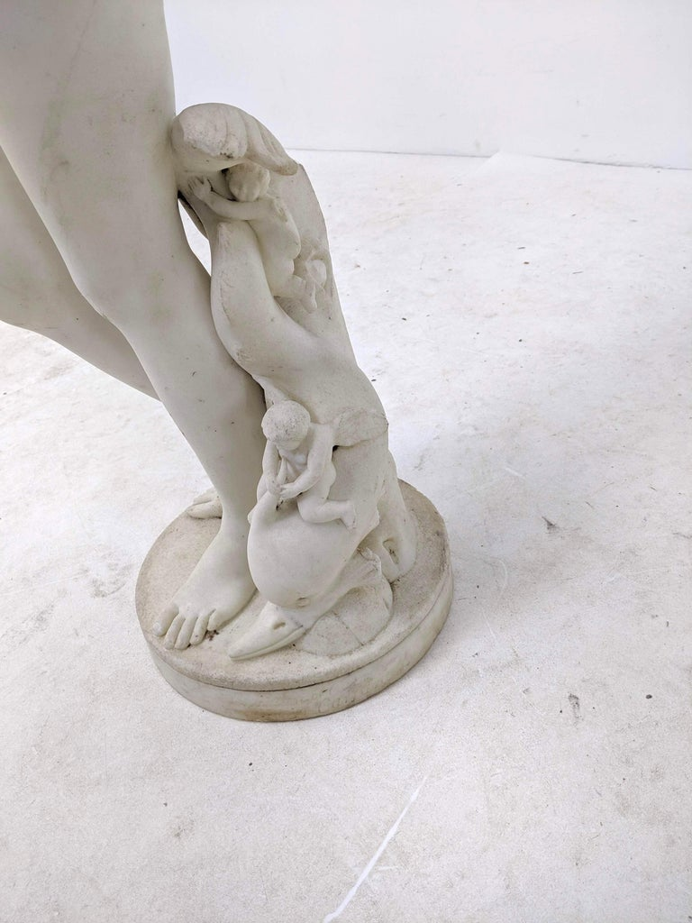 Neoclassical 19th Century Carved Marble Statue For Sale