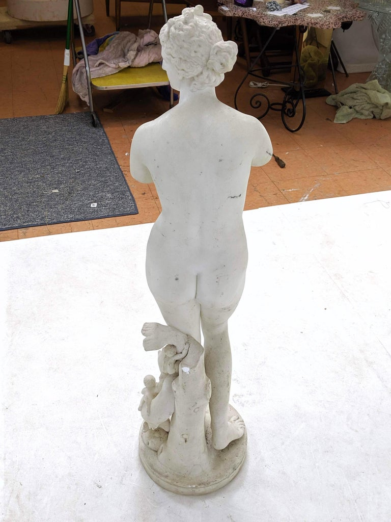 19th Century Carved Marble Statue In Good Condition For Sale In Essex, MA