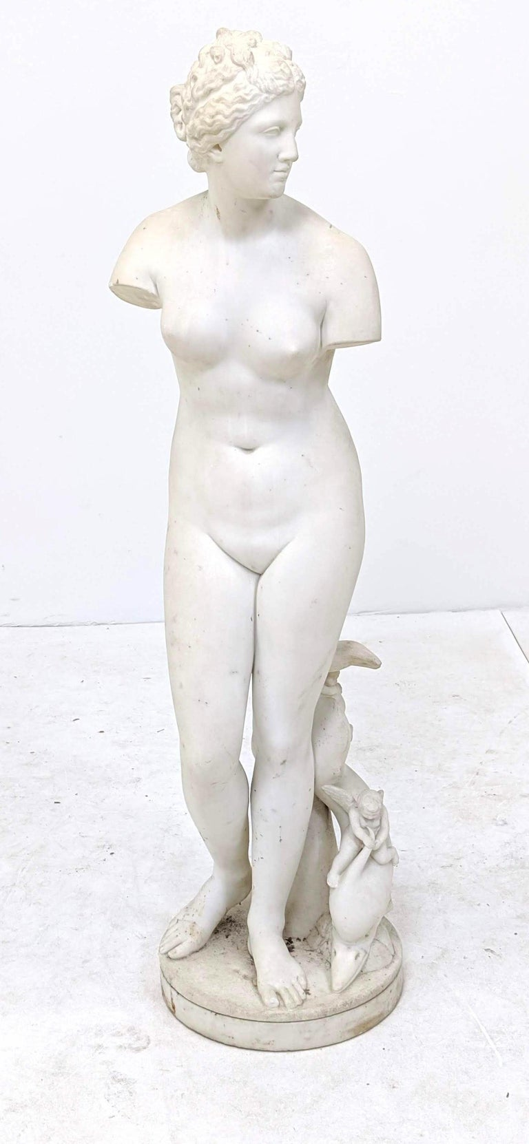 19th Century Carved Marble Statue For Sale 2