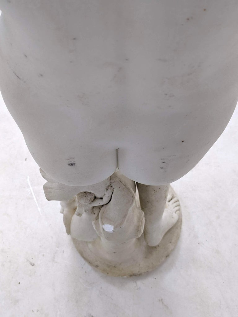 19th Century Carved Marble Statue For Sale 3