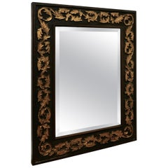 19th Century Carved Oak and Gilt Wall Mirror