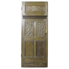 19th Century Carved Oak Door