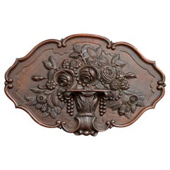 19th Century Carved Oak English Regency Plaque