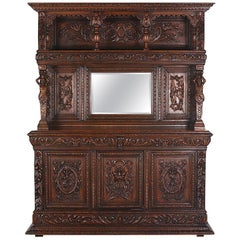19th Century Carved Oak Renaissance Revival Buffet