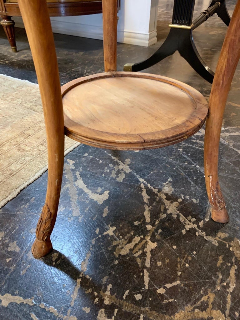 19th Century Carved Pine Neoclassical Gueridon Tables In Good Condition For Sale In Dallas, TX