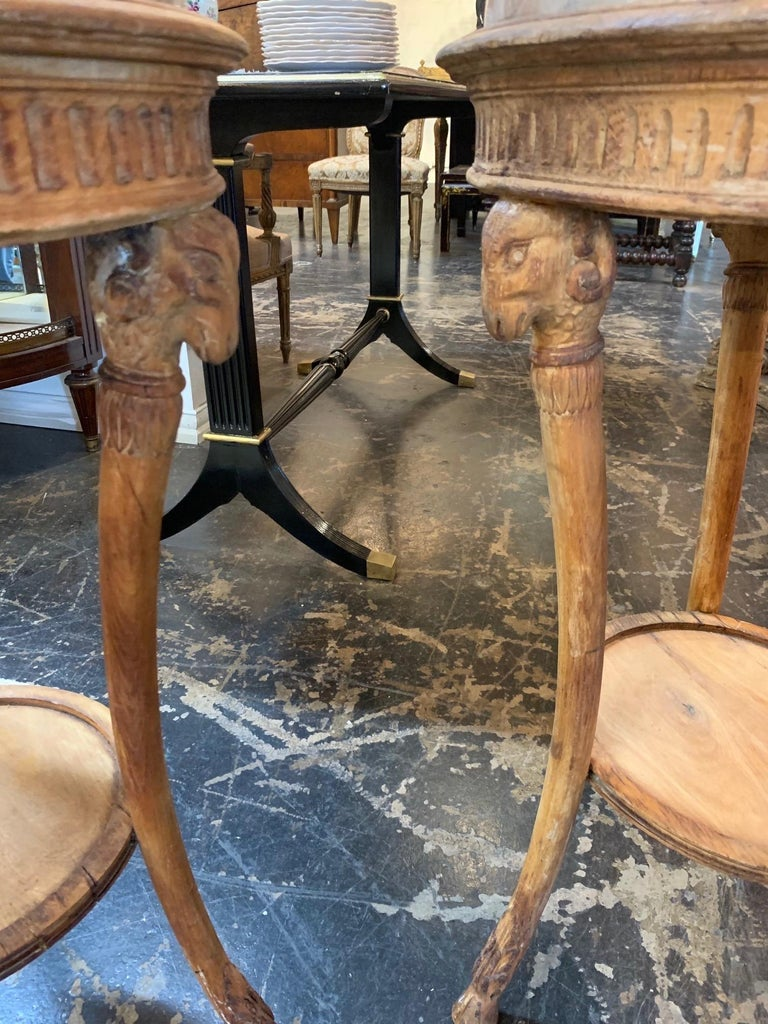 19th Century Carved Pine Neoclassical Gueridon Tables For Sale 1