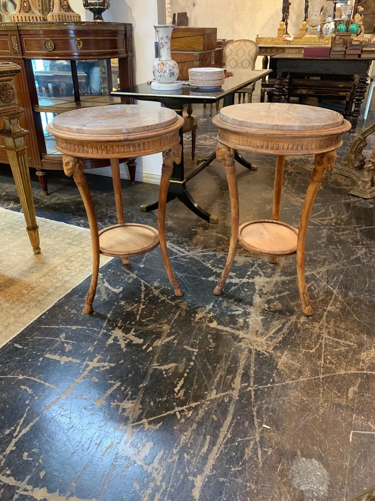 19th Century Carved Pine Neoclassical Gueridon Tables For Sale 2