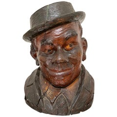 19th Century Carved Sycamore Bust of a Bavarian Gentleman