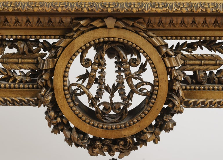 French 19th Century Carved Table Vitrine in the Louis XVI Manner by Beurdeley For Sale