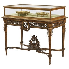 19th Century Carved Table Vitrine in the Louis XVI Manner by Beurdeley