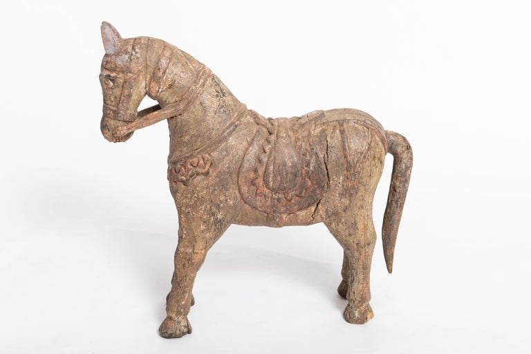 19th Century Carved Teak Horse In Good Condition For Sale In East Hampton, NY