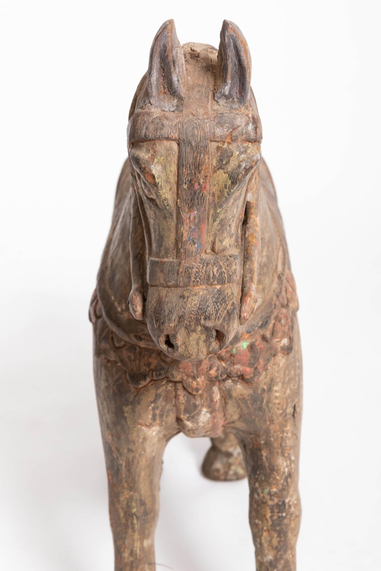 19th Century Carved Teak Horse For Sale 3