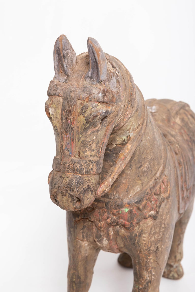19th Century Carved Teak Horse For Sale 4